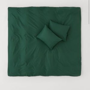 H&M Bedding - Dark green 100% cotton king duvet set